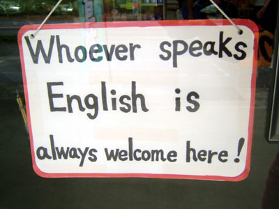 English speakers welcome