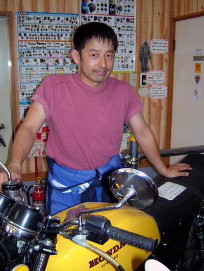 Osamu, owner of Motoshop Wildcats in Tsukuba