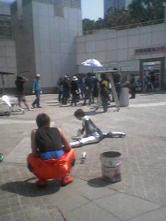 Filming in Tsukuba Center