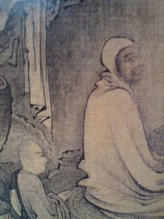 Chinese painting of Daruma and Eka by Dai Jin (1388-1462).Sesshu obviously studied this work while he was in China