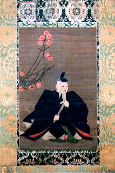 Portrait of Michizane at Mitsukaido's Tenmangu Shrine
