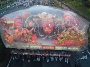 One of Aomori`s famous Nebuta Floats at Matsuri Tsukuba 2009