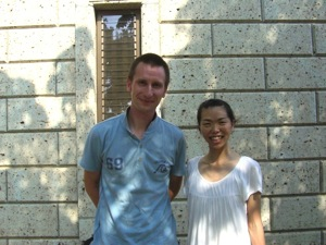 Mako Karasawa and Thomas Mayers Outside an old storehouse in Chiyoda