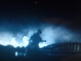 Godzilla ( Gojira) Destroying Tokyo (1954)