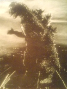 Godzilla under fire (1954)