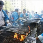 The sanma festival held in Meguro (Tokyo), each year in September