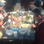Each table at the marina was layed out with a fine spread