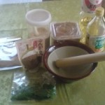 Everything set to begin making pastes
