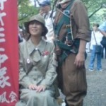 More people in costume on Aug 15th at Yasukuni Jinja