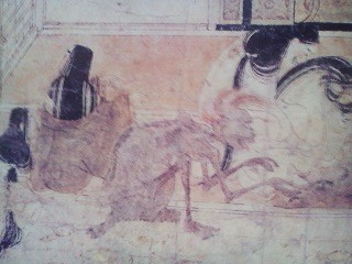 Gaki trying to get at a newborn infant ( from the 12th century GAKI SO-SHI picture scroll)