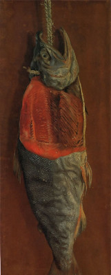 A salted salmon - one of Japan`s most famous western style oil paintings