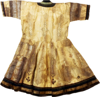 An Ainu garment made of salmon skin