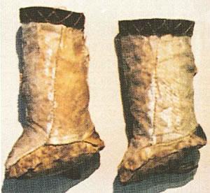 Ainu footwear made of salmon-skin