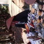 A talisman salesman- reiki healing had a booth just in front of the shrine`s entrance