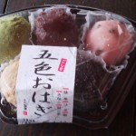 There are five types of OHAGI (BOTAMOCHI) in this packet