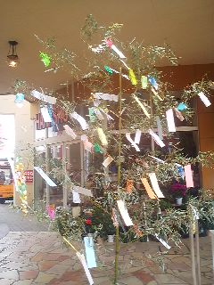 One of the many Tanabata decorations to be found at the Lala Garden Shopping Center in Tsukuba