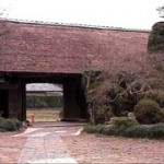 The old gate to Sakura Azumao`s birth-house