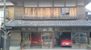 An old house in Makabe with a Hina Doll set on display