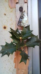 A sardine head and thorny leaves used to keep evil away- Hojo, Tsukuba
