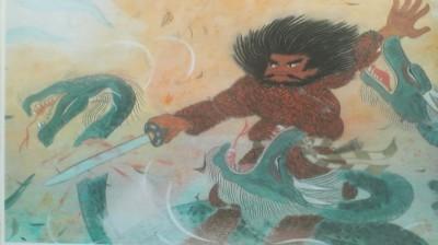 Susanoo no Mikoto slaying the Yamata no Orochi