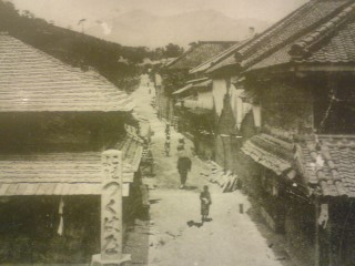 An old picture of the starting point of the Old Tsukuba Road