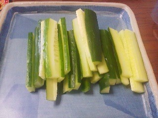In summer, when you visit Japanese home you are very likely going to be served cucumber sticks- to be dipped in miso (fermented bean paste