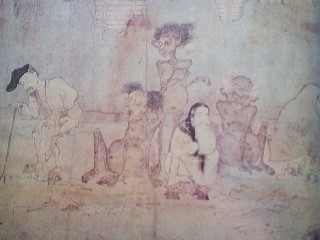 From the Gaki So-shi picture scroll- gaki doomed to eat human waste