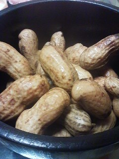 What are the most delisious peanuts? Freshly harvested raw peanuts boiled with salt
