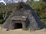 A recreation of a Jomon Period dwelling at the Archaeological Park near the museum