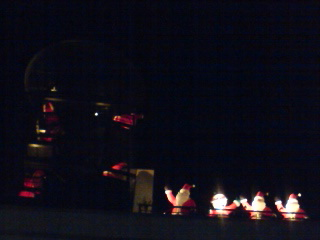 Giant roof-top santas