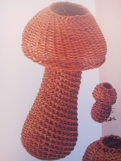 A mushroom-shaped flower vase which once hung on the wall of Morse`s Tokyo residence