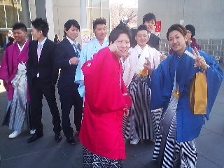 Outside Capio Hall on the day of the Coming-of-Age Day Ceremony in Tsukuba (2014)