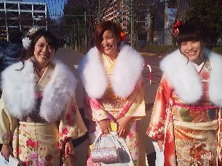 Outside Capio Hall in Tsukuba on the day of the Coming-of-Age Day Ceremony (2014)