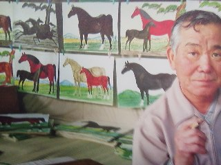 Horse paintings on sale at a shrine