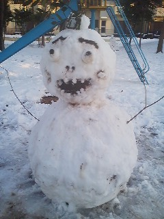 And making big scary snowmen