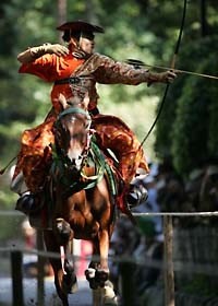 Since at least the Kamakura Period mounted archery (YABUSAME) has been an important ritual for warriors