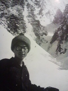 Giichi Sawada near Mt. Hodaka in the spring of 1962- three years before he and his party of trekkers were buried by an avalanche. While all five of his friend were killed instantly, Sawada survived for days beneath the debris. Before he died, he composed a Last Will and Testament- whic has been translated into English and and posted below