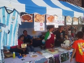 An Argentine Food Stand - one of the many types of cuisine available at the Tsukuba International Festival ( on the second weekend of each May)