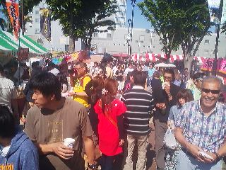 Running into old friend- I was taking this random shot of the crowd at the Tsukuba International Festival and right there at the bottom right - one of ther elder statesmen of the foreign community- Mehdi, originally from Afghanistan