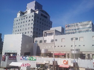 A Tsukuba landmark- the Tsukuba Center Complex - if you examine it closely you can identify features of a dozen or so great styles of architecture