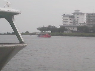 In the distance- the Duck Tours bus-boat, which provides an amphibious tour of Tsuchiura City and Lake Kasumigaura
