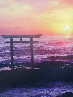 Sunrise at Oarai on the Ibaraki coast- about an hours drive from Tsukuba
