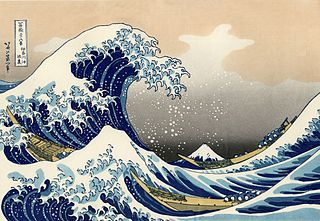 The Great Wave Off Kanagawa (Katsushika Hokusai- 1829) is said to have inspired CLaude Debussy`s La Mer (The Sea), a most appropriate piece of music for today`s National Holiday