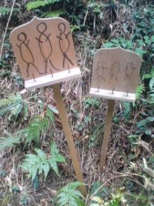 A distinctive feature of certain old cemeteries in the Tsukuba area is the presence of these hand drawn SIX JIZO sign-boards. These are meant to help guide spirits through the SIX BUDDHIST REALMS and also to inform the living that a particular path leads to a grave yard or cemetery.