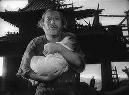 A beautiful ending! '\(Sorry for the spoiler!) Instead of despairing or resorting selfish behavior, the wood-cutter (played by Takeshi Shimura) decides to take this orphaned child back home and raise it along with his six other children!