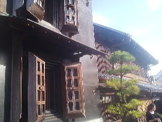 Some of the old buildings which can be found along the Onogawa River in Sawara (now part of Katori City)