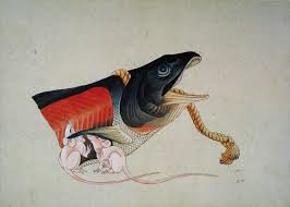 Salmon and mice by Hokusai