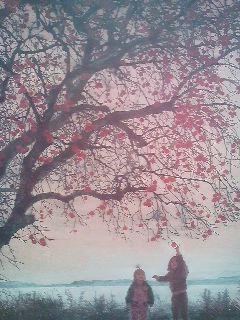 A painting by Mizumi Takeshi on display as part of the Tsukuba Bijutsu Exhitition at thr Tsukuba Art Museum