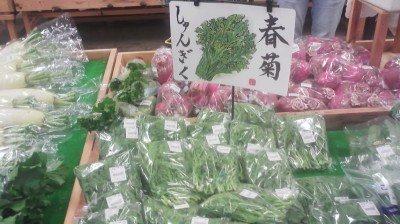 SHUNGIKU (春菊) at the farmers market