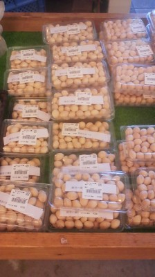 Fresh gingko nut are on sale at WAKU WAKU HIROBA at the Lala Garden Shopping Center in Tsukuba